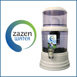 Zazen water filter fluoride