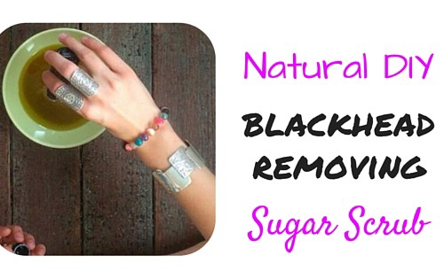 blackhead removing sugar scrub